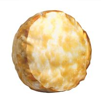 Bojangles Biscuit Pillow - Side View - Full color 3-D image of a Bojangles biscuit