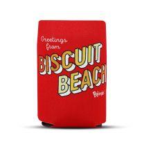 Biscuit Beach Greetings Koozie