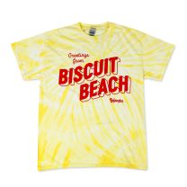 Greetings from BISCUIT BEACH Tie Dye Tee