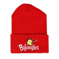 Red Beanie with Chicken Head and White Bojangles logo on the cuff - Front View